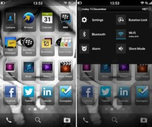 The BlackBerry 10 operating system Photo: Engadget