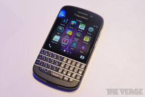 The BlackBerry Q10 Photo: The Verge