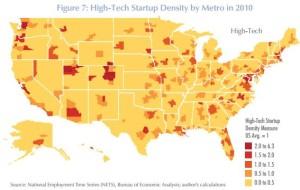 StartUp Density by Metro