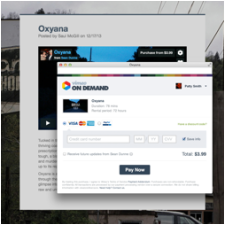Screenshot of redesigned Vimeo player.
