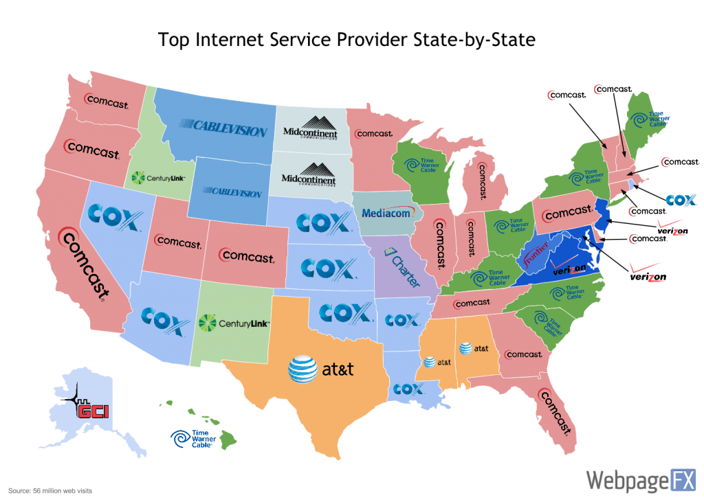 Internet Speed Map Rankings Shows Washington DC Keeps Pace Yet - Washington dc us map