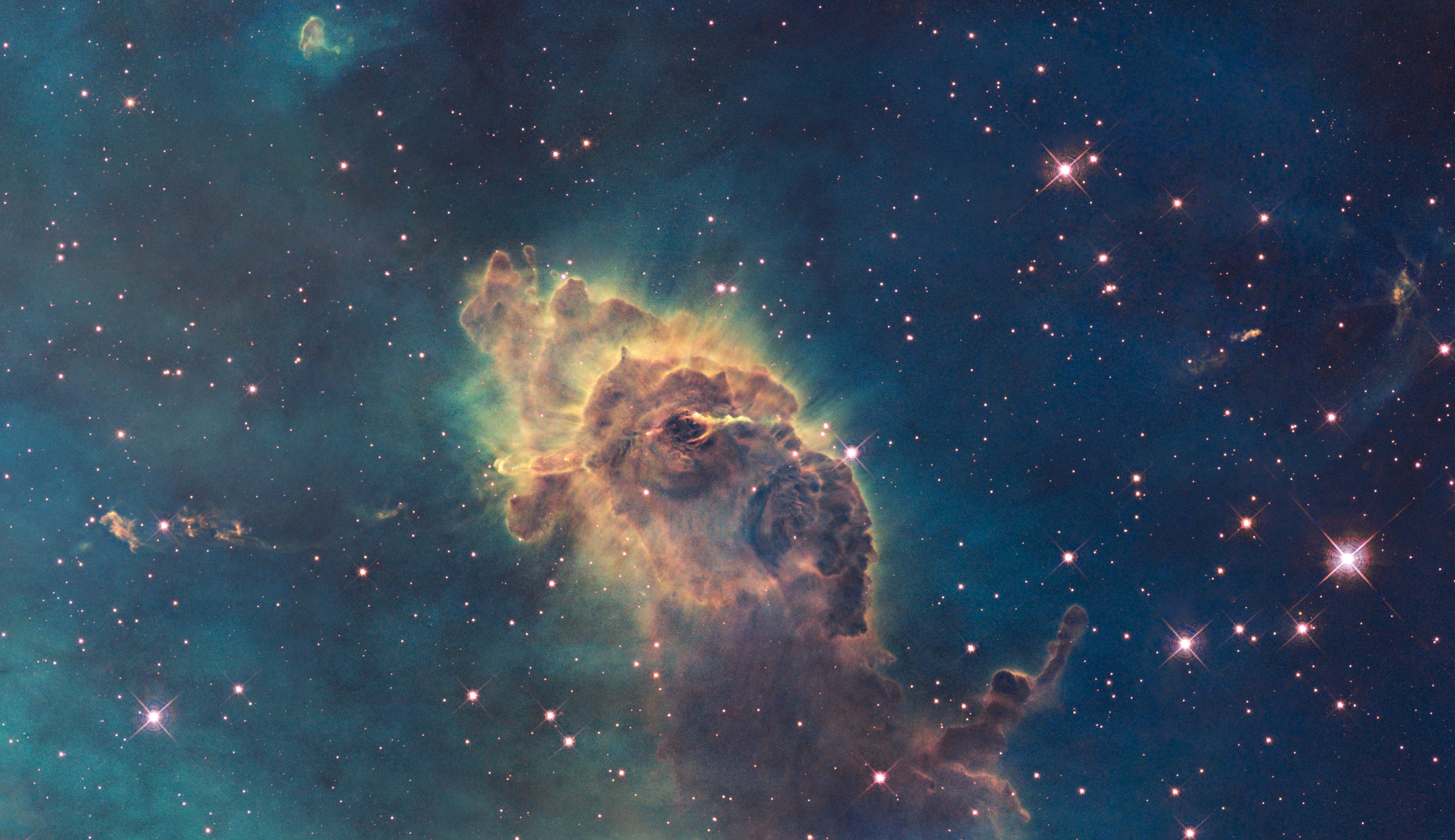 Carina Nebula via The Hubble Telescope